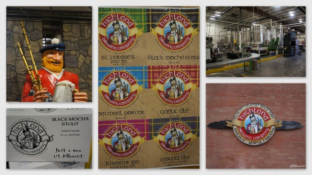Highland Brewing Company brewery tour in Asheville, North Carolina.