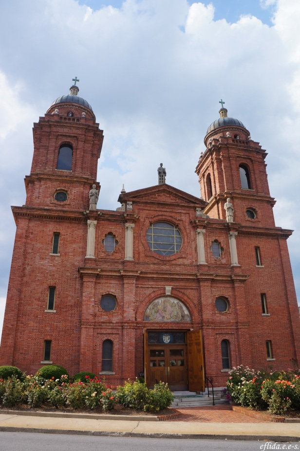 A Catholic Church in downtown Asheville, North Carolina.