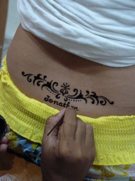 Henna Tattoo in Bali, Indonesia.