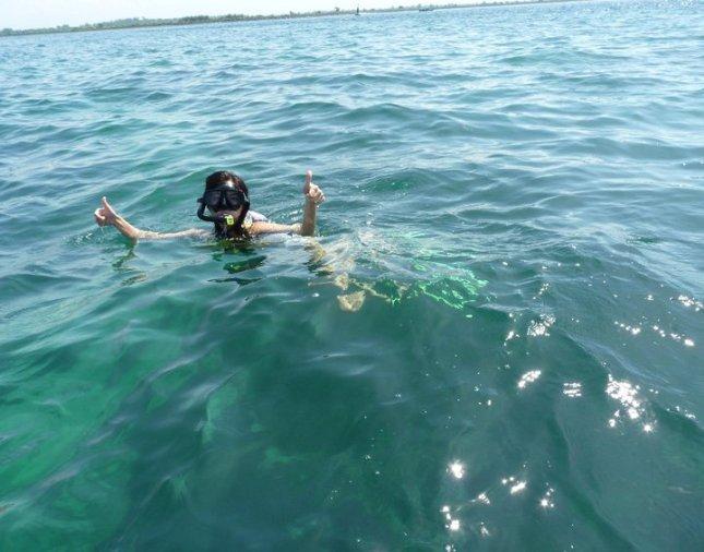 Snorkeling in Bali, Indonesia.