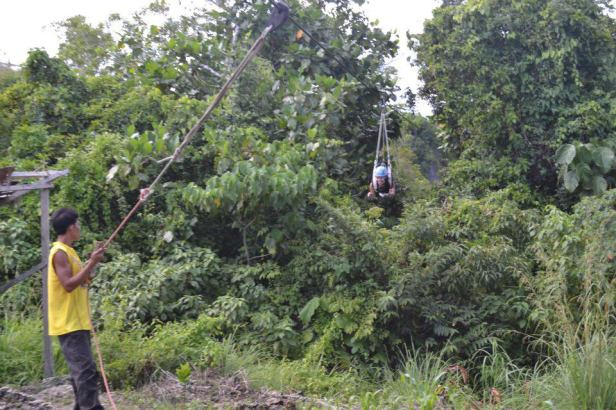 Suislide zipline at E.A.T. Danao (Extreme/Eco/Educational Adventure Tour), Bohol, Philippines
