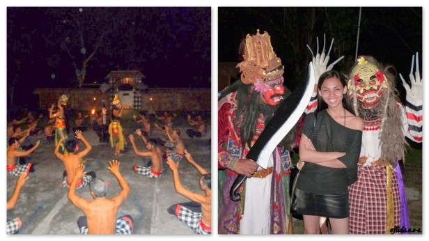 Kecak Fire Dance, a traditional Balinese dance and music drama.