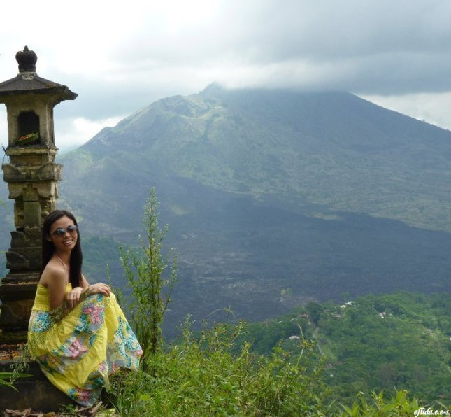 Mount Batur (Gunung Batur) in Kintamani, Bali, Indonesia is an active volcano which last erupted in 2000. This volcano is surrounded by Lake Batur.
