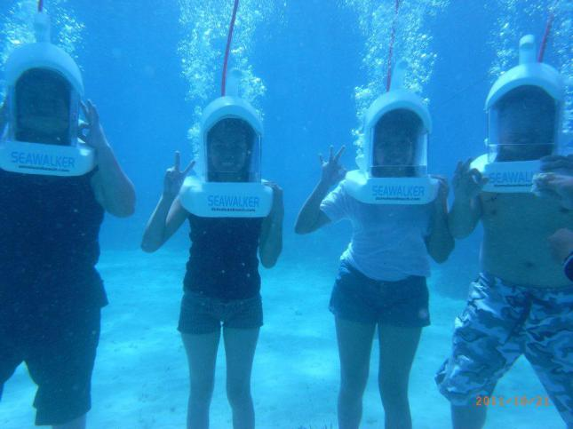 Underwater Adventure (Seawalk), Panglao, Bohol, Philippines