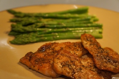 baked thyme rubbed pork chops 2