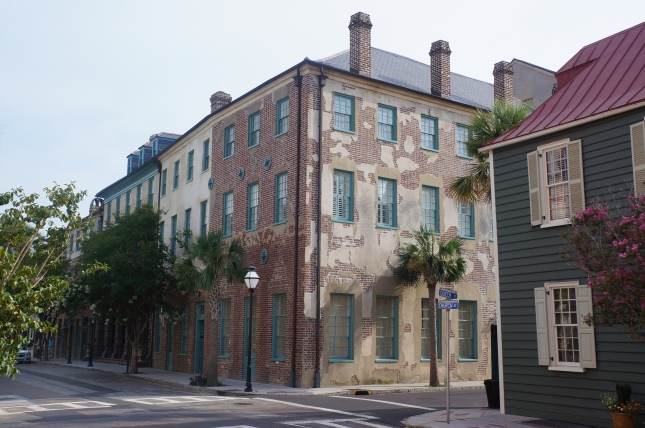 An architectural display in Charleston,South Carolina with a charm.