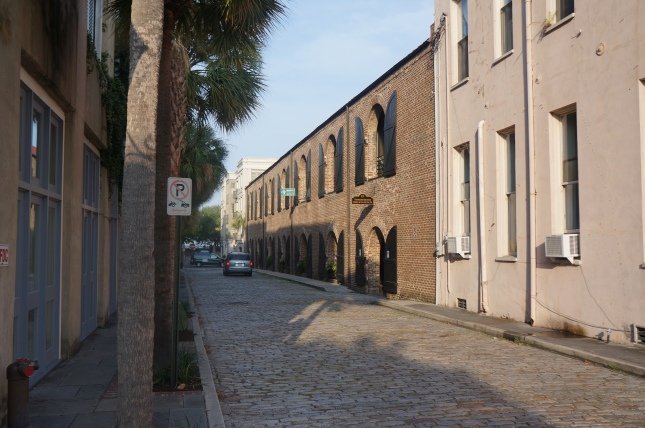 cobbled-stone street in Charleston, South Carolina