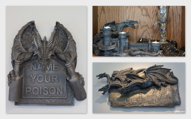 Dragon displays at Starrlight Mead in Pittsboro, North Carolina.