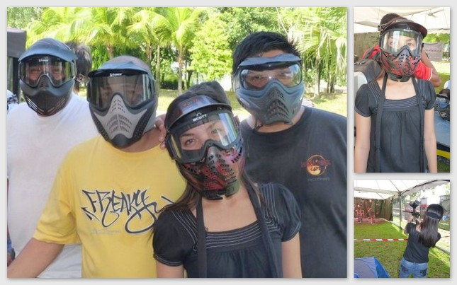 Trying paintball during the annual Hot Air Balloon Festival in Putrajaya, Malaysia.