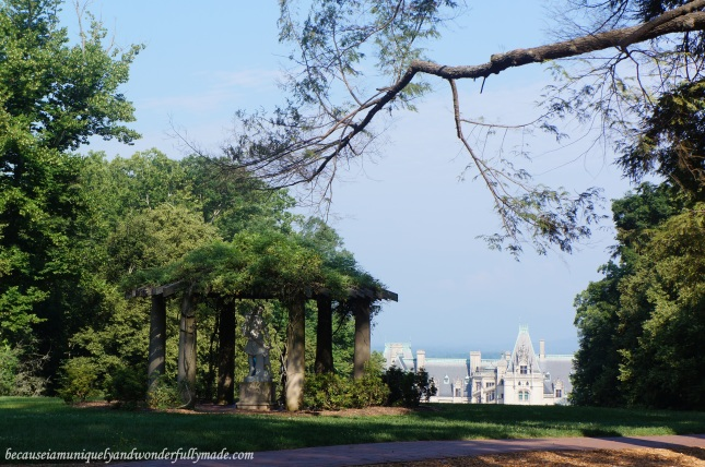 The Biltmore House and Estate and Diana's gazebo in Asheville, North Carolina.
