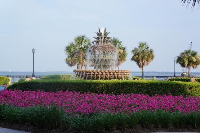 The famous Pineapple Fountain in Charleston, South Carolina.