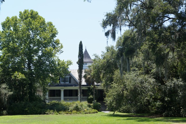 View of Magnolia House from Ashley river, Charleston, South Carolina.