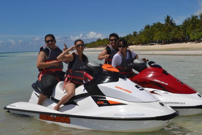 jet ski ride at Dumaluan Beach Resort, Panglao, Bohol, Philippines