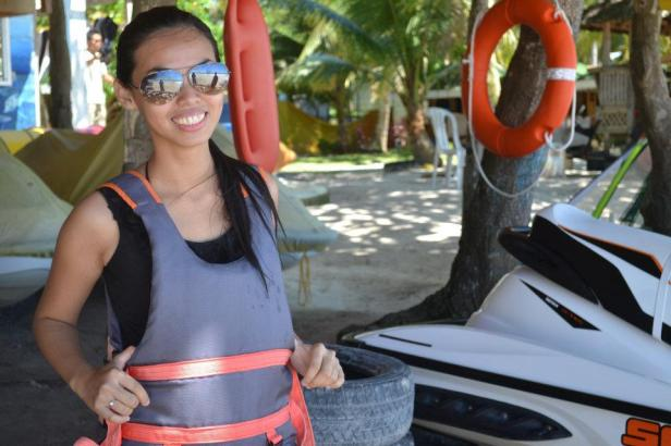 jet ski ride at Dumaluan Beach Resort, Panglao, Bohol, Philippines