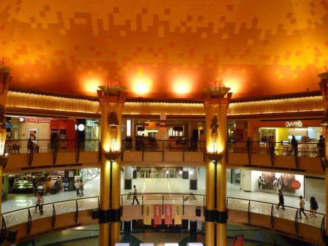 Inside Sunway Pyramid Shopping Mall in Petaling Jaya, Malaysia.
