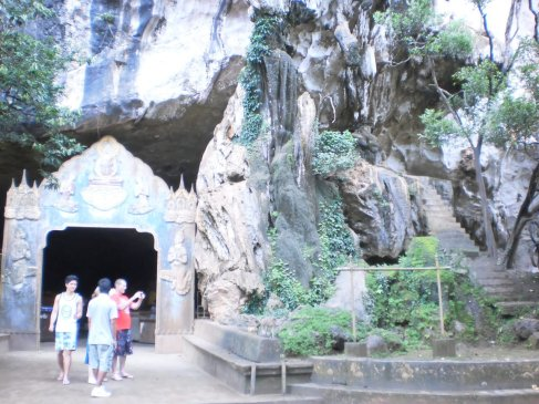 Wat Tham (meaning cave temple) Suwan Kuha, located in Phang Nga province, North of Phuket