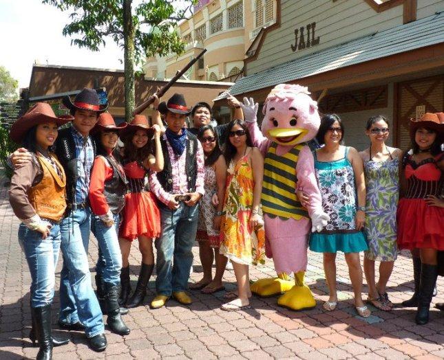 The friendly staff at Sunway Lagoon in Petaling Jaya, Malaysia.