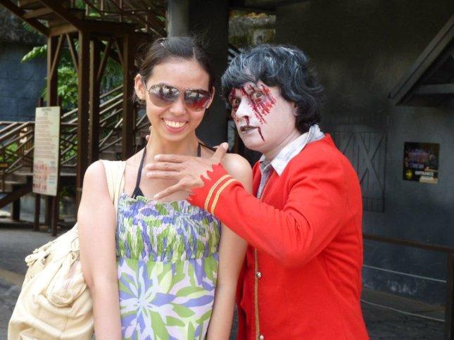 Halloween atmosphere in November at Sunway Lagoon in Petaling Jaya, Malaysia.
