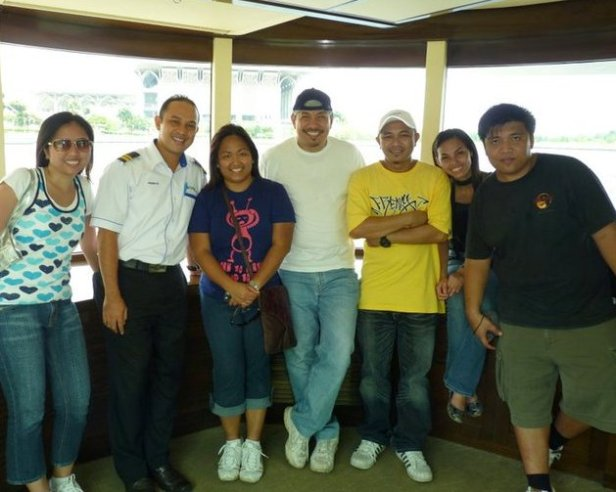Aboard Cruise Tasik Putrajaya with the Captain during the annual Hot Air Balloon Festival in Putrajaya, Malaysia.