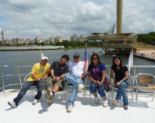 Aboard Cruise Tasik Putrajaya during the annual Hot Air Balloon Festival in Putrajaya, Malaysia.
