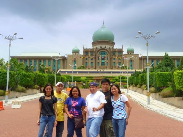 The Office of the Prime Minister of Malaysia in our background during the annual Hot Air Balloon Festival in Putrajaya, Malaysia.