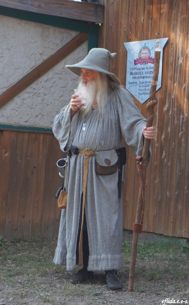 Gandalf at Michigan Renaissance Faire 2012 in Holly, Michigan.