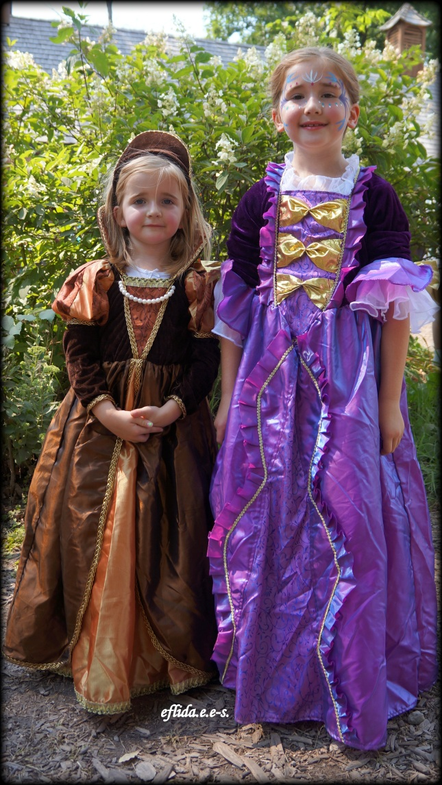 Kids dressed as royalties at Michigan Renaissance Faire.