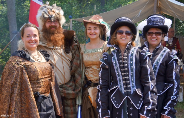 Group of friends enjoying Michigan Renaissance Faire 2012 in Holly, Michigan.