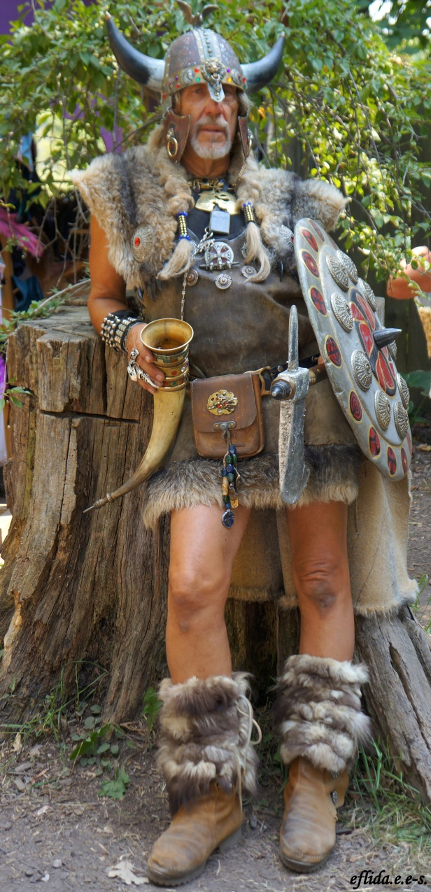 A barbarian at Michigan Renaissance Faire in Holly, Michigan.