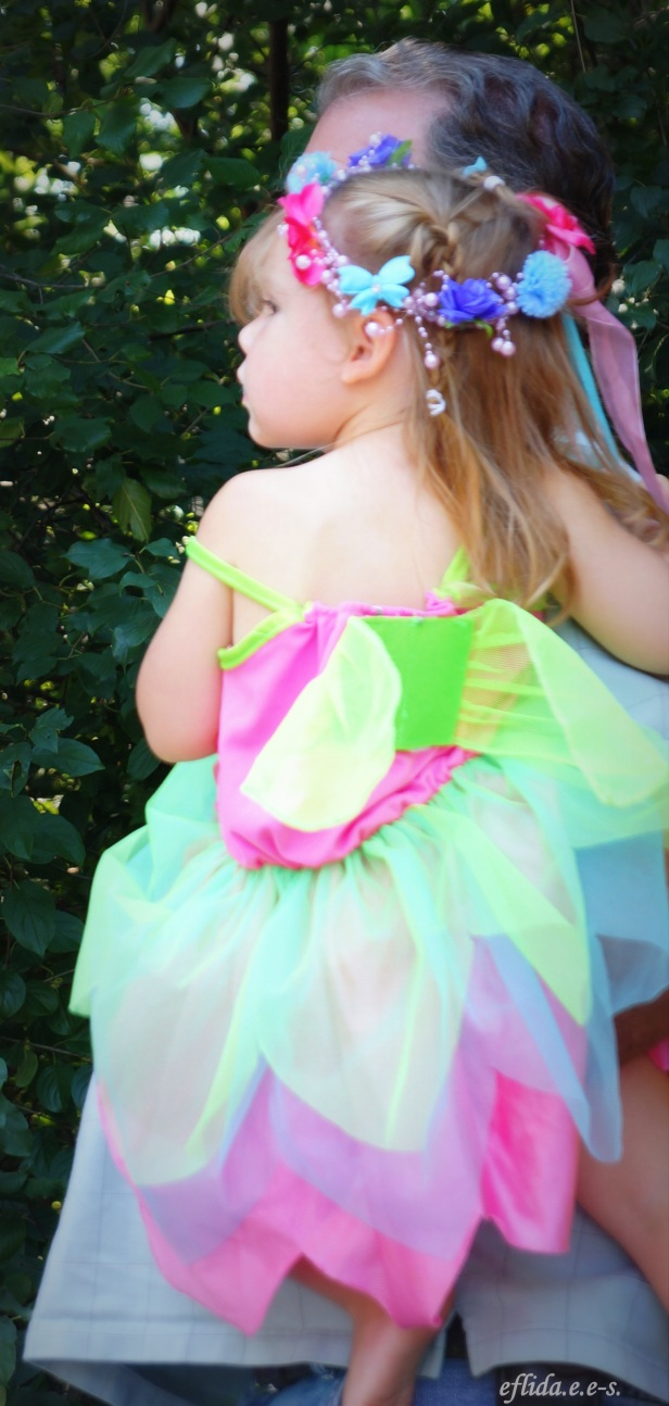 A girl dressed beautifully as a fairy at Michigan Renaissance Faire.