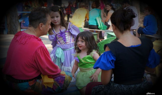 Kids dressed as fairies at Michigan Renaissance Faire.