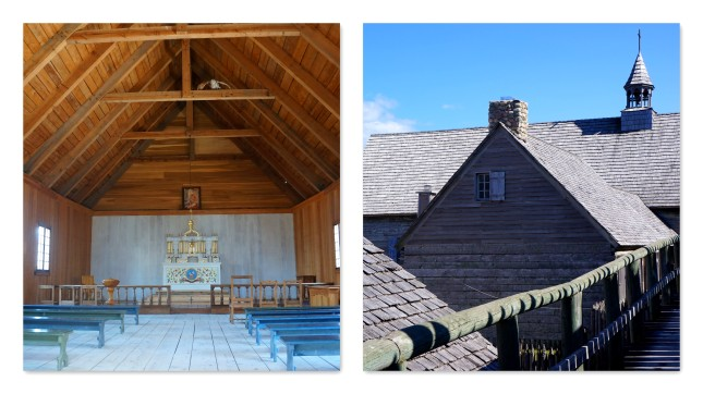 The church inside Fort Michilimackinac, MIchigan.