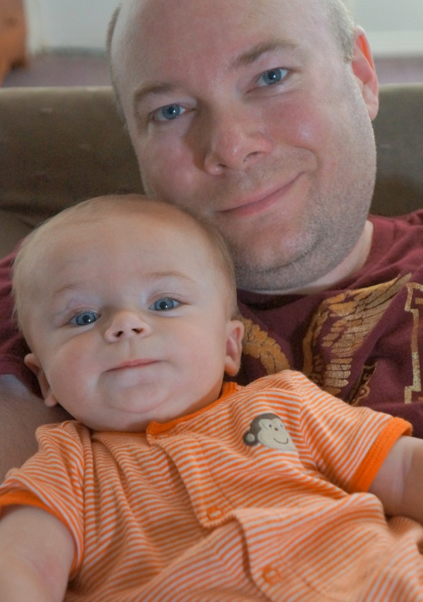 Hubby and our nephew Josiah Sellers.