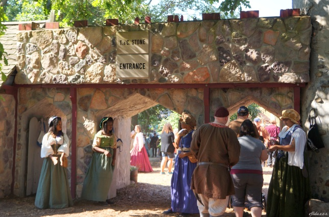 Welcoming visitors to Michigan Renaissance Faire 2012 in Holly, Michigan.