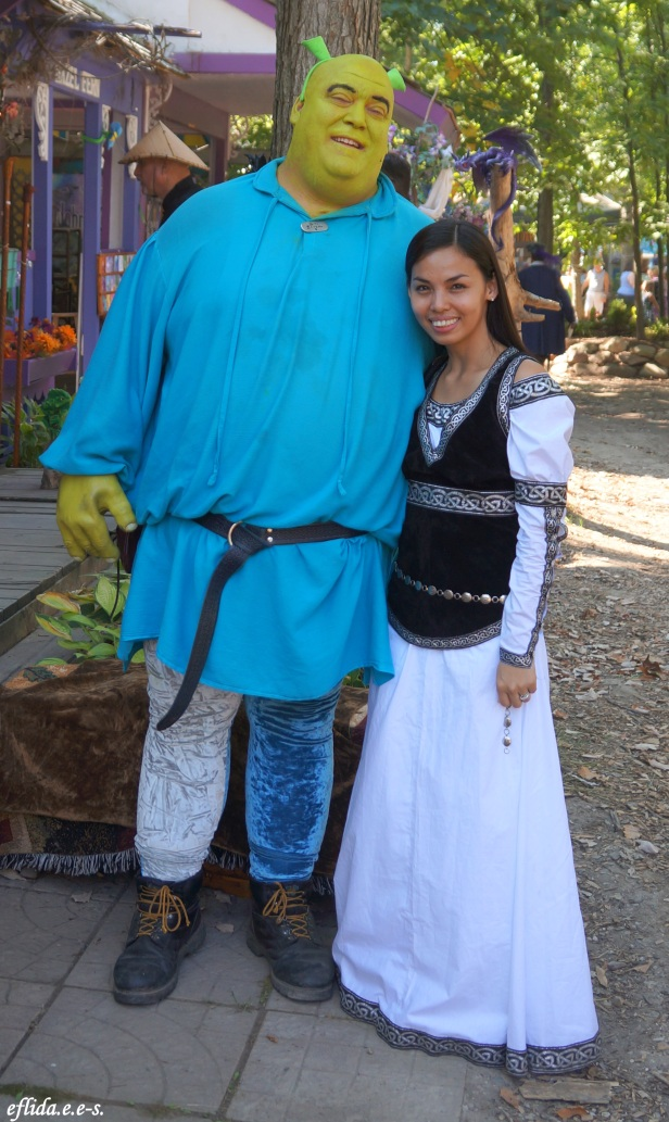 With Sir Shrek at Michigan Renaissance Faire in Holly, Michigan.