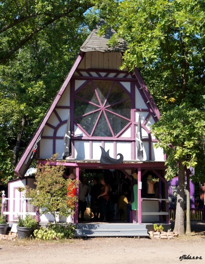 one of the structures as shops at Michigan Renaissance Faire