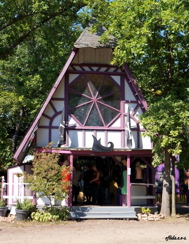 One of the structures which functions as a shop at Michigan Renaissance Faire 2012 in Holly, Michigan.