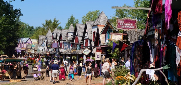 Shops at Michigan Renaissance Faire in Holly, Michigan.
