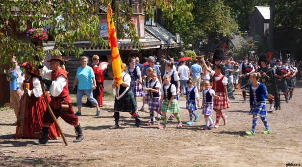 The Queen's Parade at Michigan Renaissance Faire 2012 in Holly, Michigan.