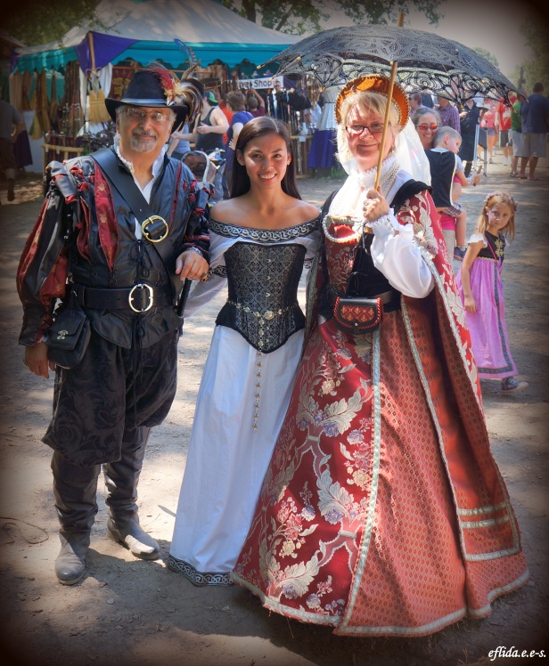 With a couple enjoying Michigan Renaissance Faire.
