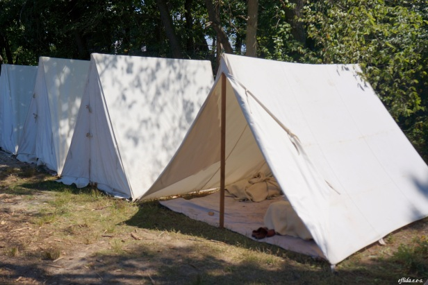 Some tents at Michigan Renaissance Faire 2012 in Holly, Michigan.