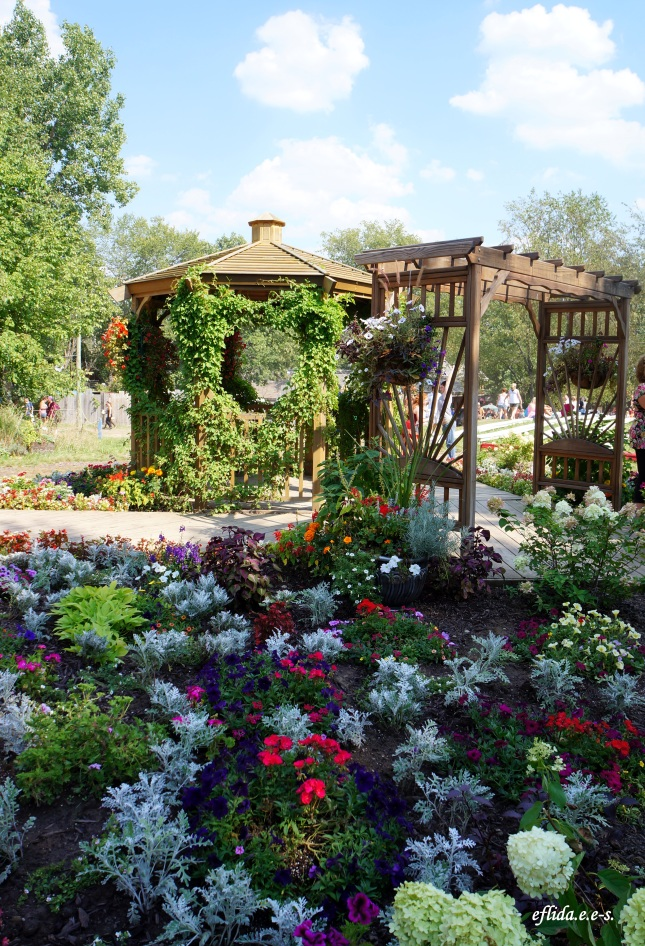 Lovely garden and gazebo at Michigan Renaissance Faire in Holly, Michigan.