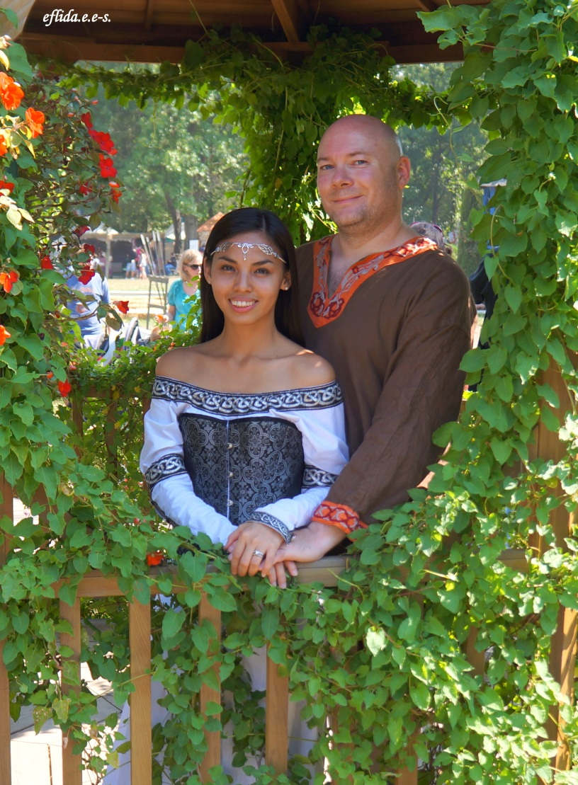 hubby and i enjoying Michigan Renaissance Faire