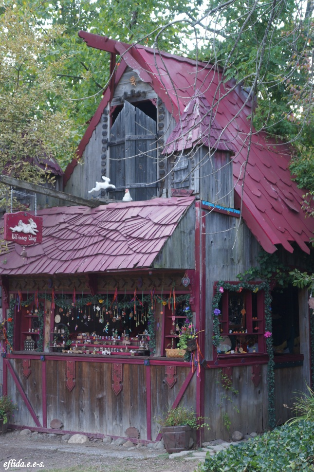 One of the structures which functions as a shop at Michigan Renaissance Faire in Holly, Michigan.