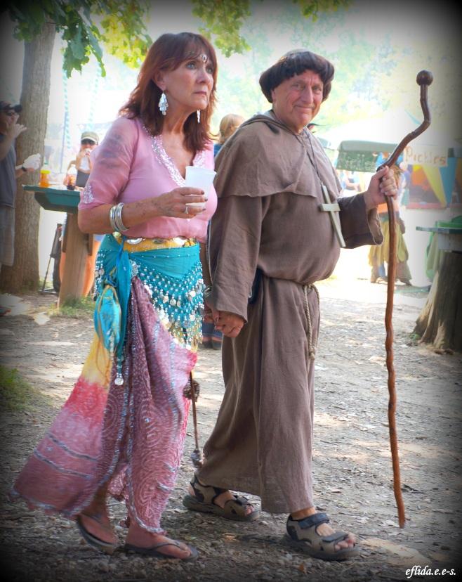 A couple enjoying Michigan Renaissance Faire.
