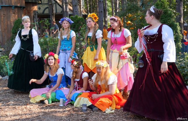 Some fairies and members of the Royal Court having fun at Michigan Renaisance Faire 2012.