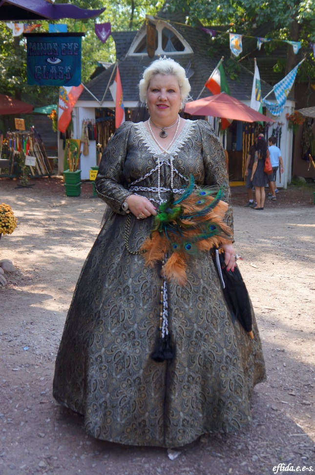 Some fancy garb at Michigan Renaissance Faire in Holly, Michigan.