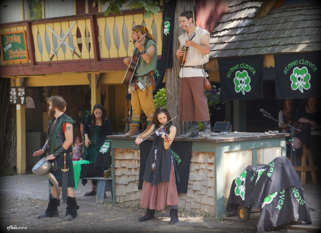 Stone Clover band at Michigan Renaissance Faire.