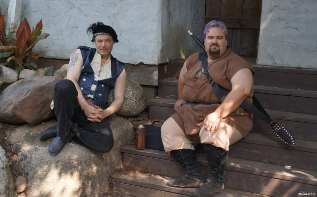 Ssome guys at Michigan Renaissance Faire in Holly, Michigan.