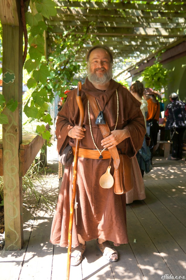 A monk at Michigan Renaissance Faire in Holly, Michigan.
